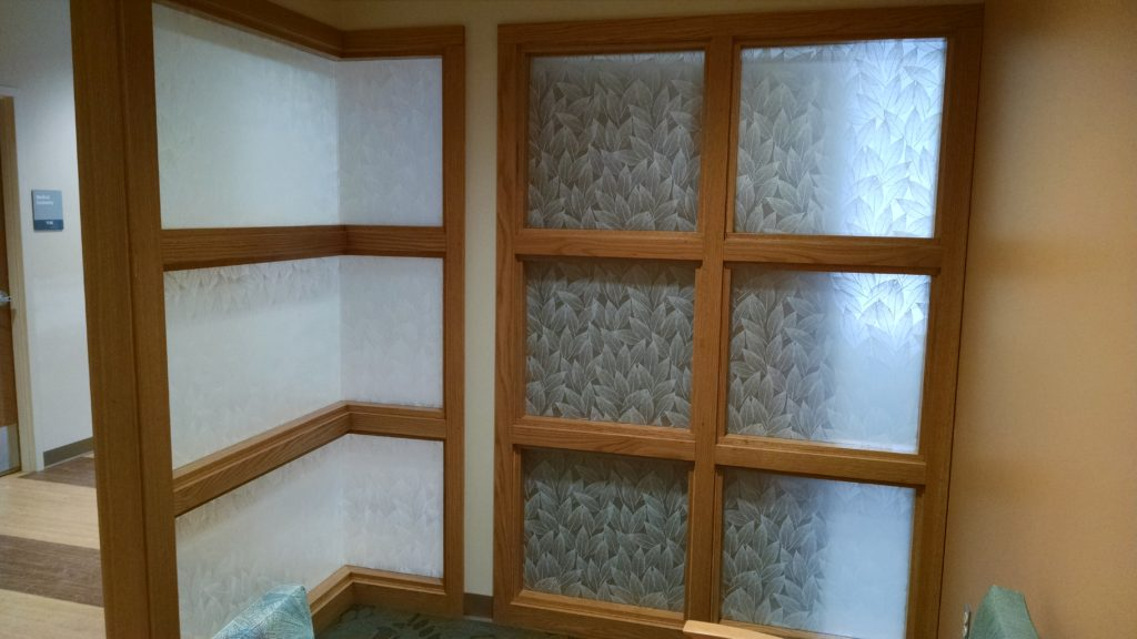 Solyx Dusted Leaf Patterned Window Film by All Season Window Tinting, Inc.