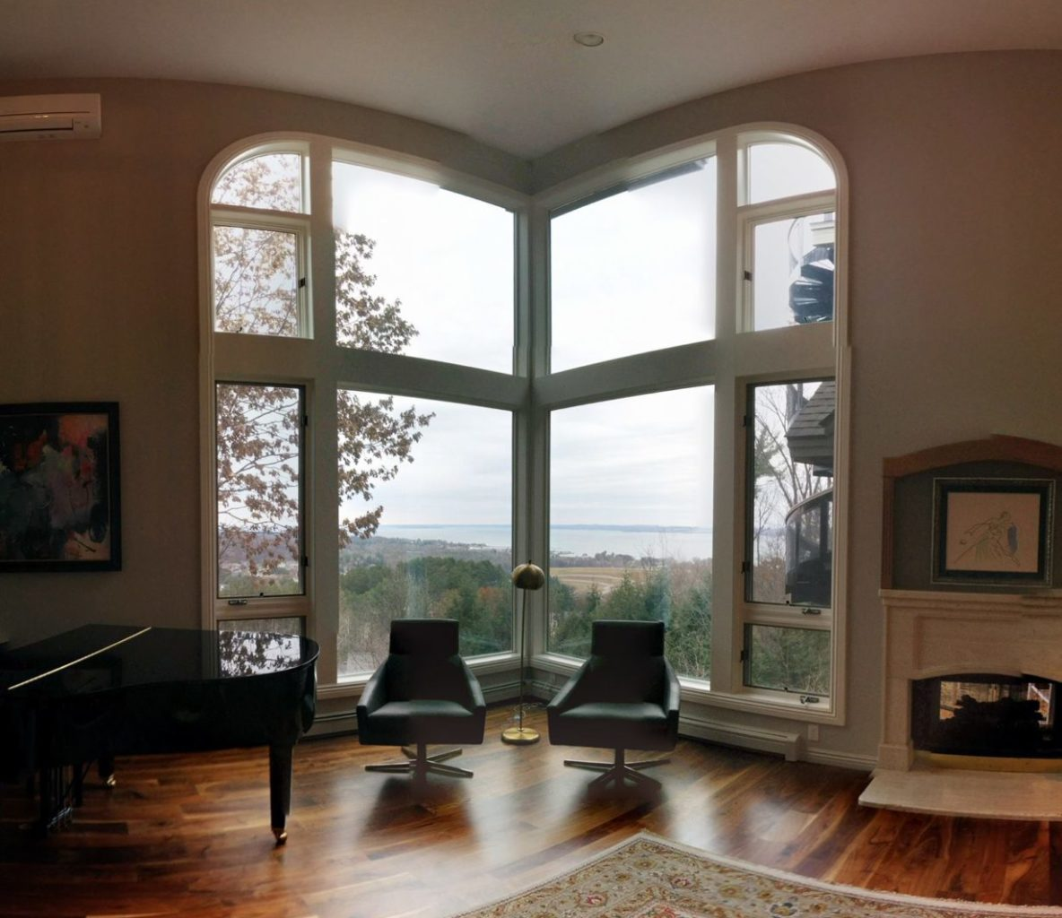 Vista Spectra Select Residential Window Film Maintains Views of Grand Traverse Bay - Home Window Tinting in Traverse City, Michigan