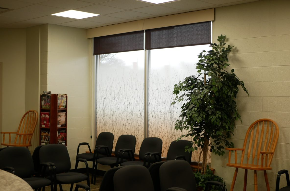 Decorative Window Films Add Privacy & Decor to Big Rapids Orthopedics in Big Rapids, Michigan