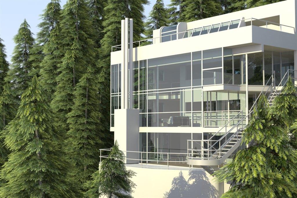 Window Film Enhances Richard Meier's Douglas House in Harbor Springs, Michigan