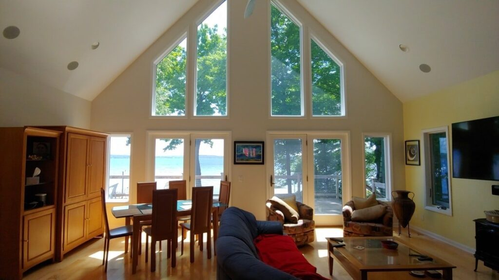 Suttons Bay Homeowner Reduces Heat and Offers Fade Protection - Home Window Tinting in Western Michigan 2
